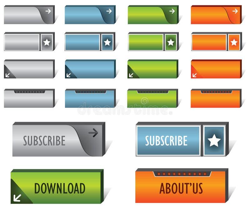 Download Web buttons stock vector. Illustration of orange, matte - 19990921