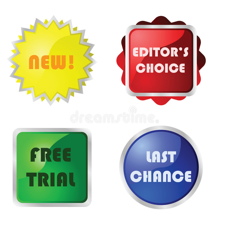 Download Web buttons stock vector. Image of choice, glossy, button - 8118735