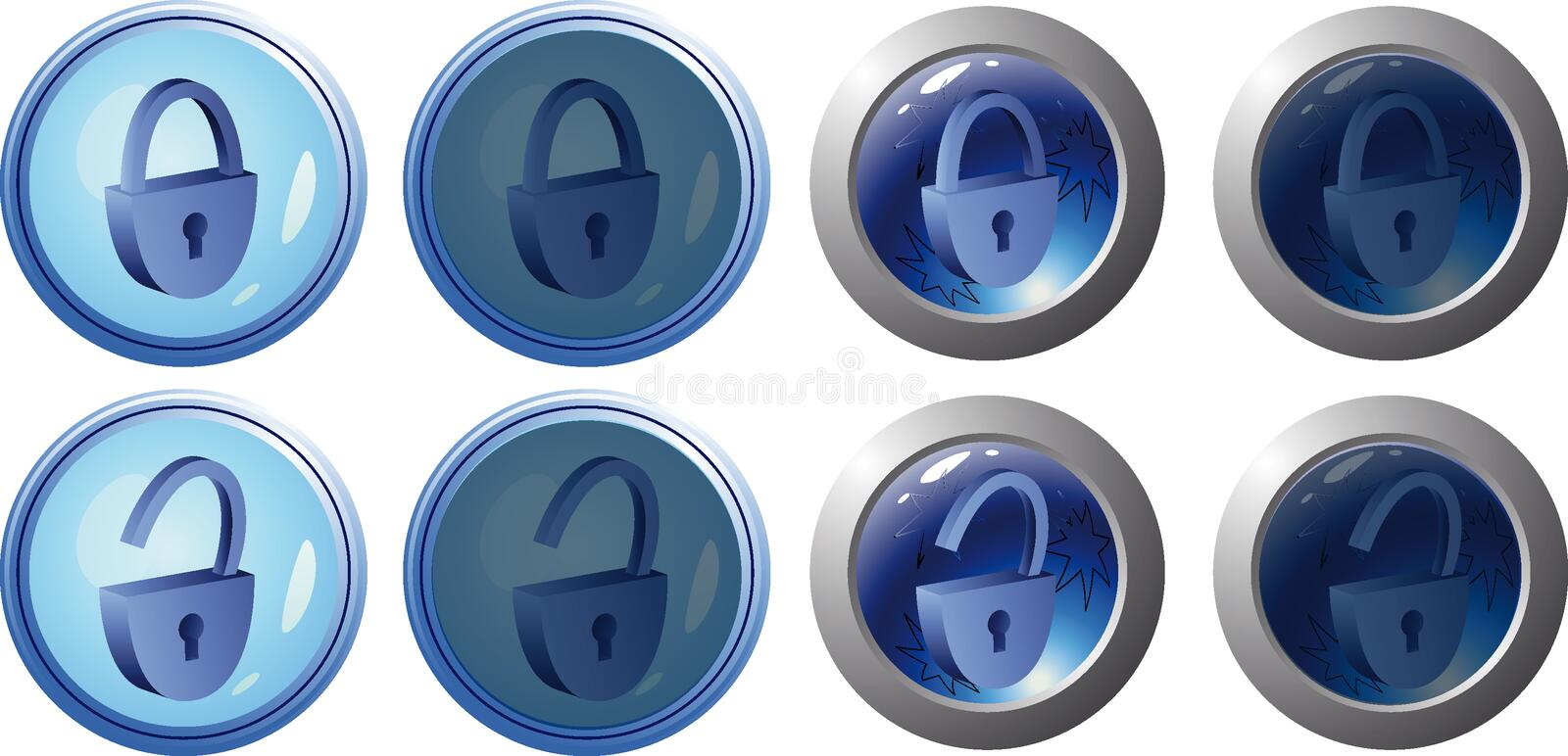 Download Web buttons stock vector. Image of active, blue, inactive - 8177695