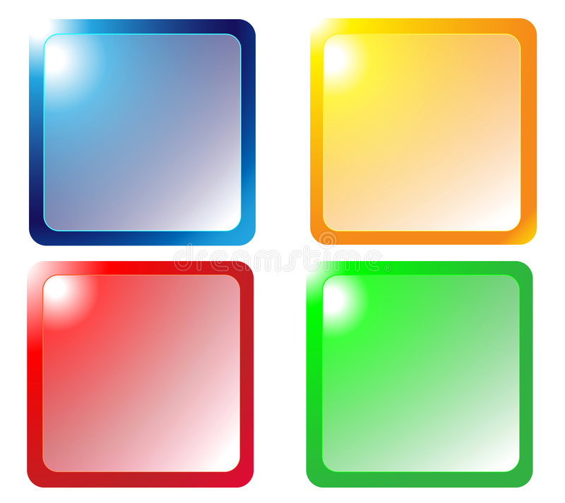 Download Web buttons stock illustration. Illustration of square - 8378111