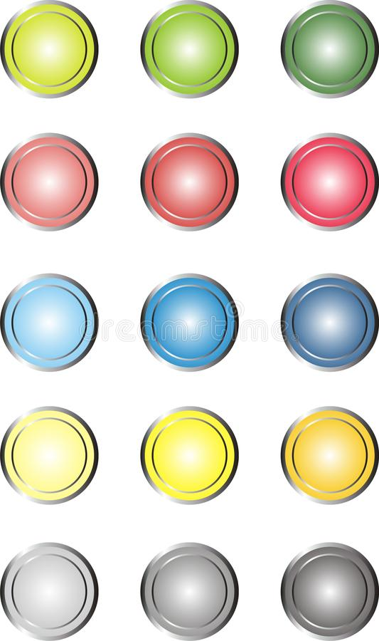 Download Web Buttons stock vector. Illustration of cyan, buttons - 32147996