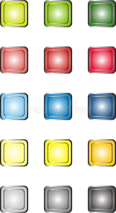 Download Web Buttons stock vector. Image of coloured, button, dark - 32148464