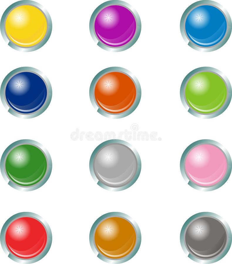 Download Web Buttons stock vector. Image of computer, agua, colour - 32183560