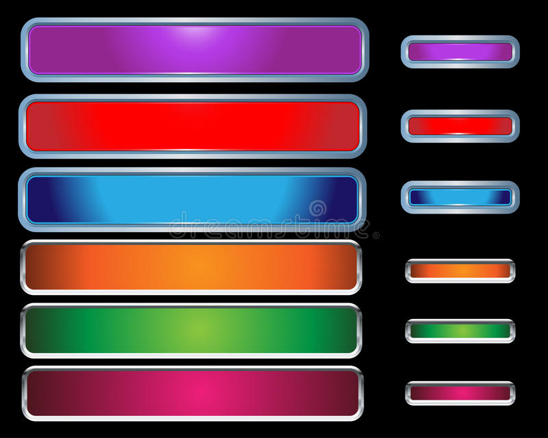 Download Web Buttons colorful stock vector. Image of background - 12000768