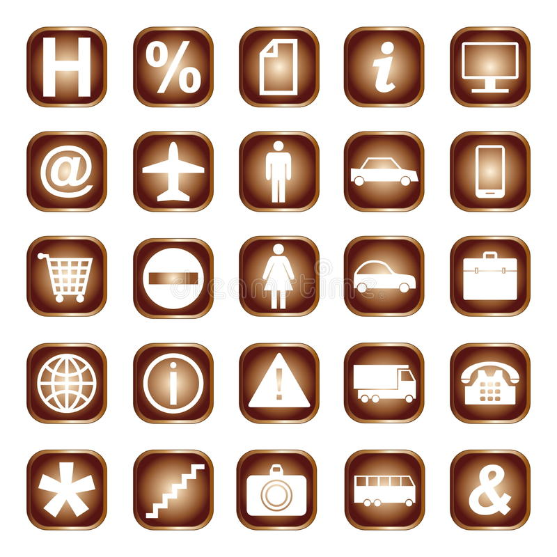 Download Web Buttons, Elements Or Icons Stock Illustration - Image: 33357500