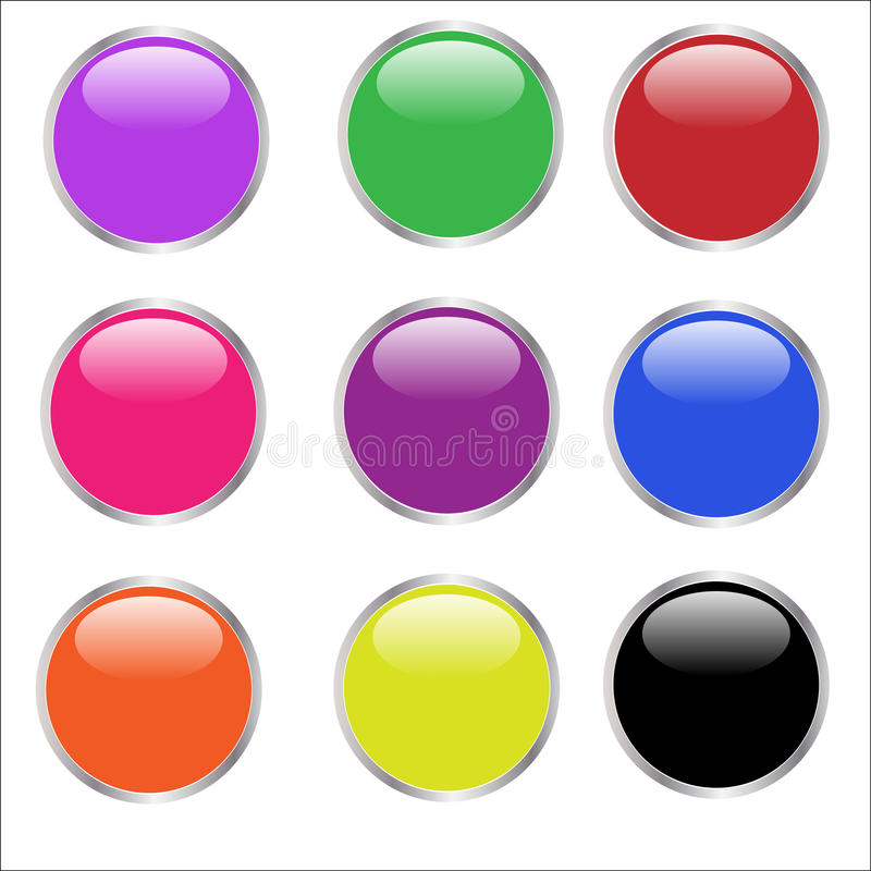 Web Buttons - glossy vector illustration