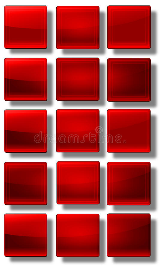 Download Web Buttons glossy- set stock illustration. Image of rainbow - 31476996