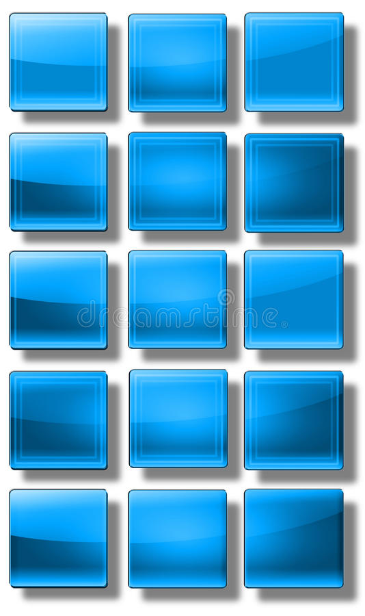 Download Web Buttons glossy- set stock illustration. Illustration of black - 31477070