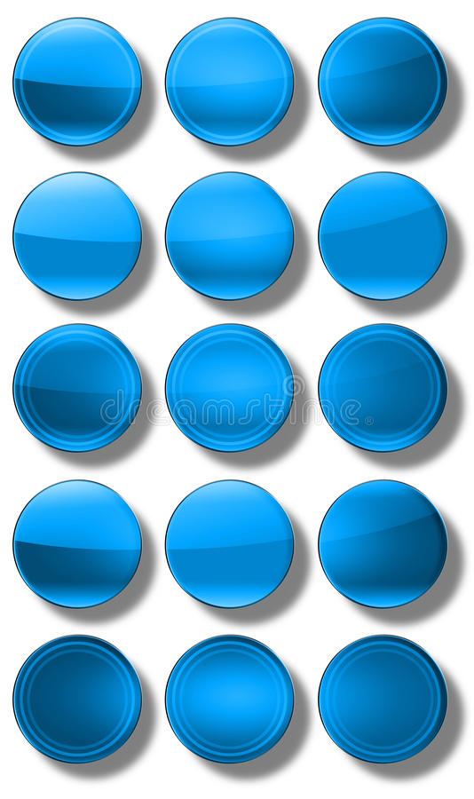 Download Web Buttons glossy- set stock illustration. Image of gray - 31477165