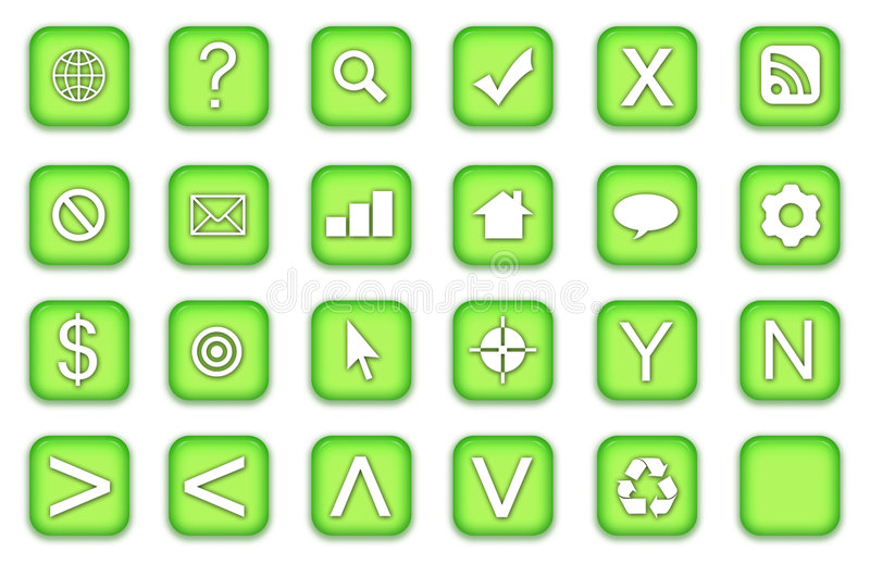 Web Buttons Icons Set royalty free illustration