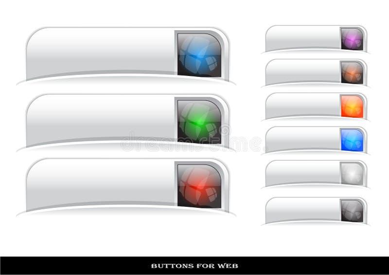 Web buttons pack. Set of color plastic buttons for web. Vector illustration vector illustration