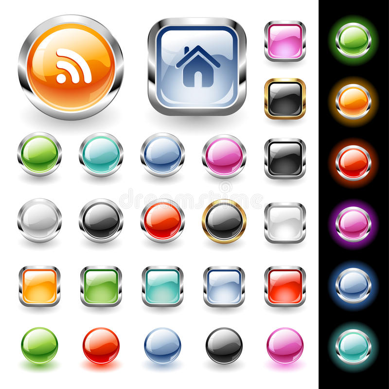 Web buttons set royalty free illustration