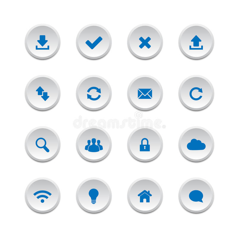 Web Buttons Set 1 Royalty Free Stock Images