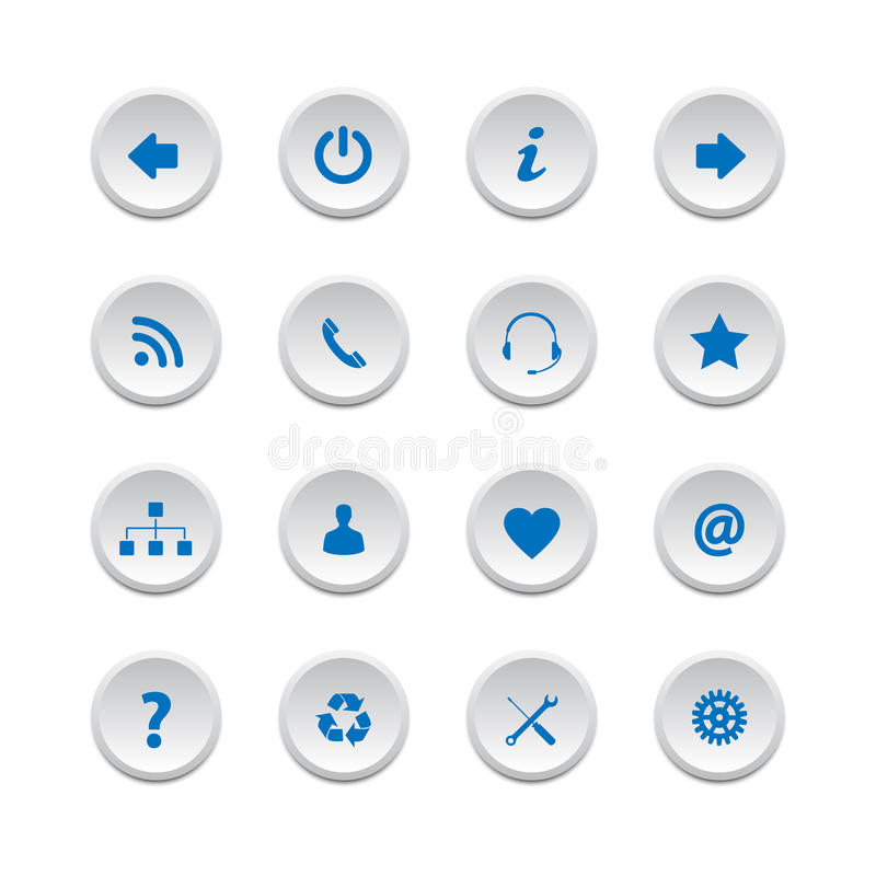 Download Web buttons set 2 stock vector. Illustration of network - 31686345