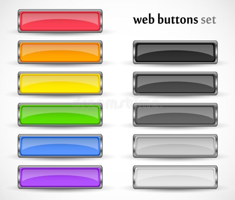 Web buttons set for your design royalty free stock images