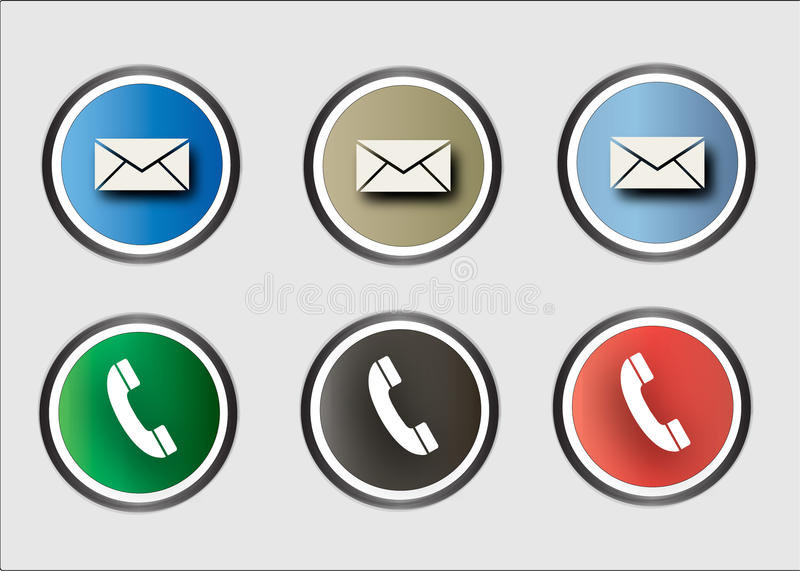 Web call and message icons stock image