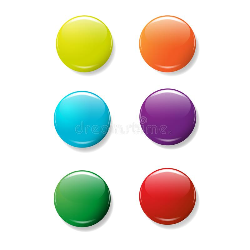 Web buttons on white background for web design.colorful.vector vector illustration