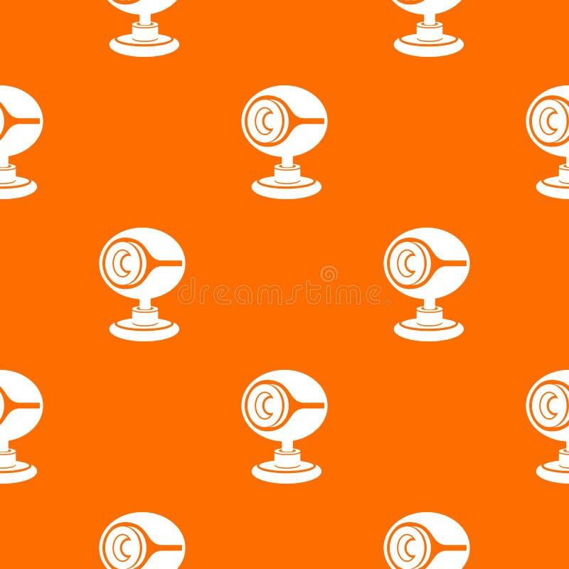 Web camera pattern vector orange stock illustration