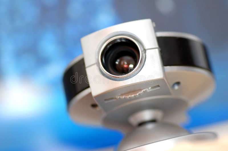 Web camera on screen background royalty free stock photos