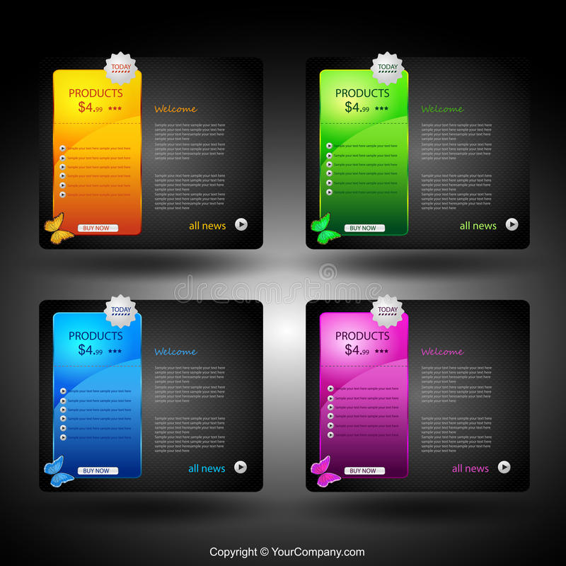 Download Web Card Design Element Stock Images - Image: 21416544