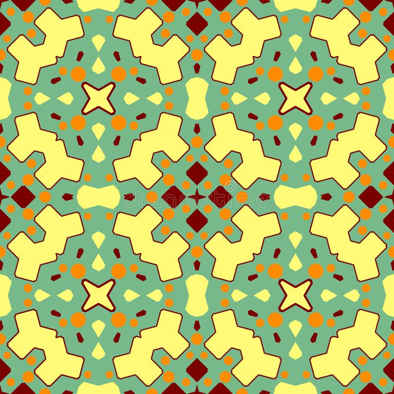Ceramic tile texture. Gorgeous seamless patchwork pattern from colorful ornaments for ceramic tiles vector illustration