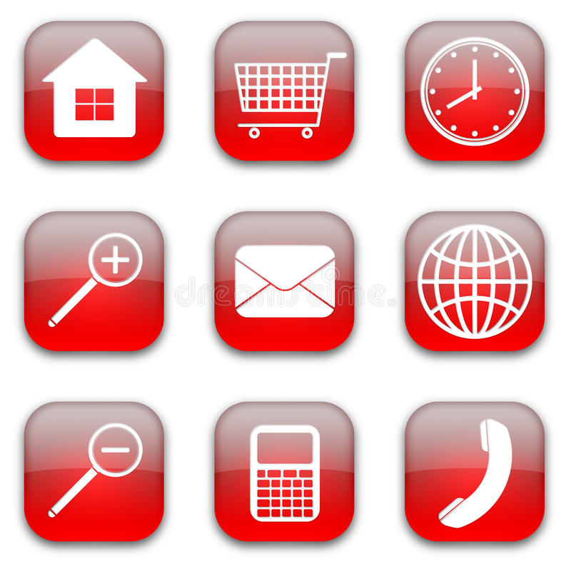 Download Web commerce icons set stock illustration. Image of commerce - 18781801