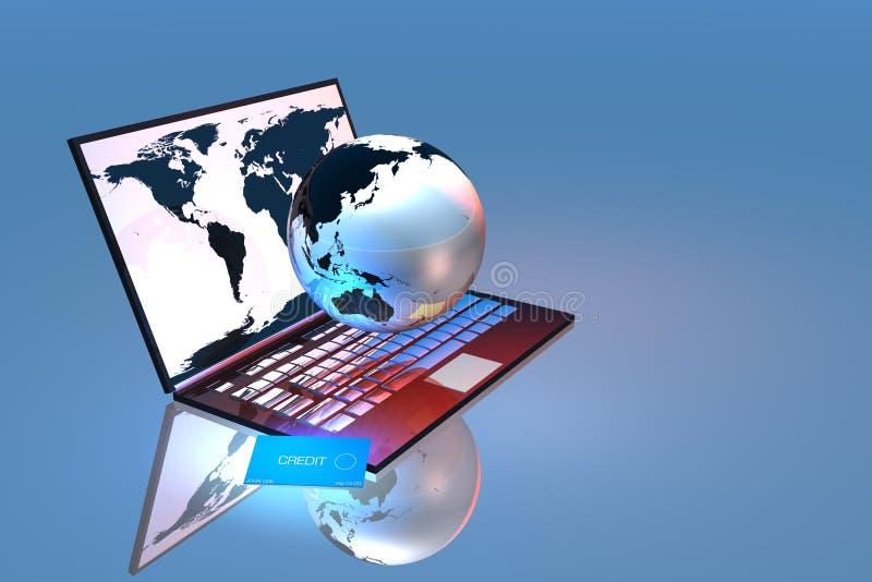 Web Commerce4 ilustración del vector