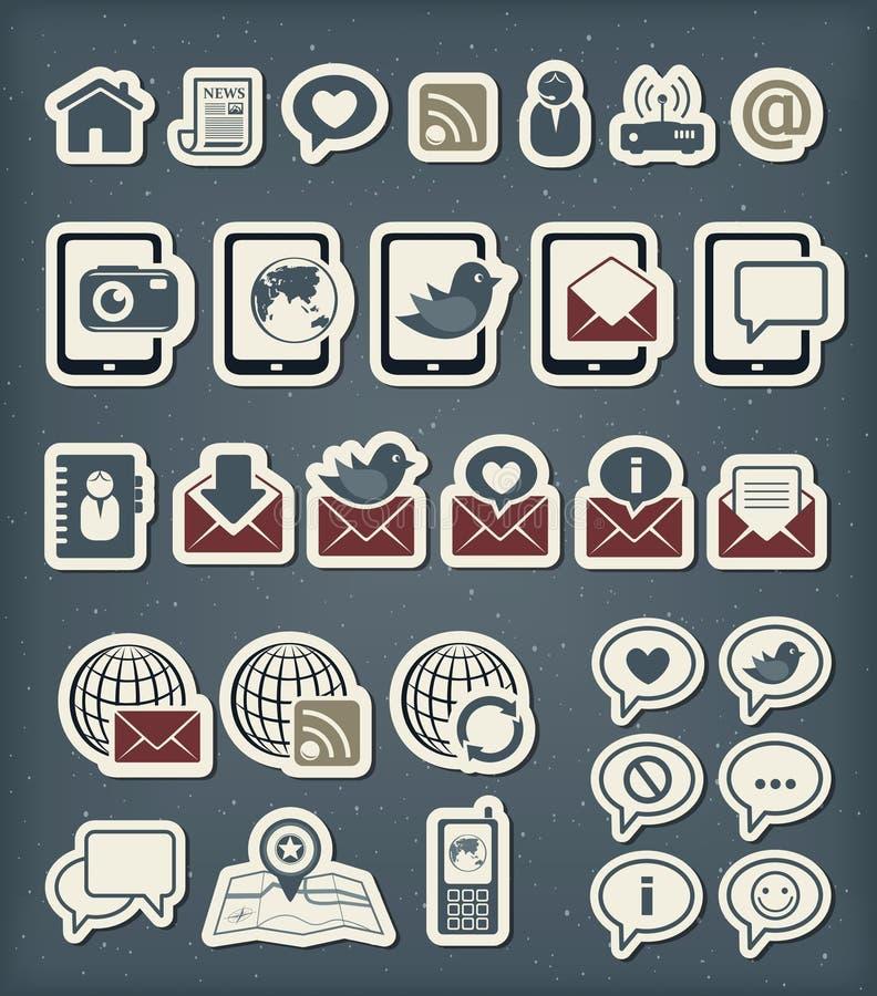 Web communication icons stock illustration