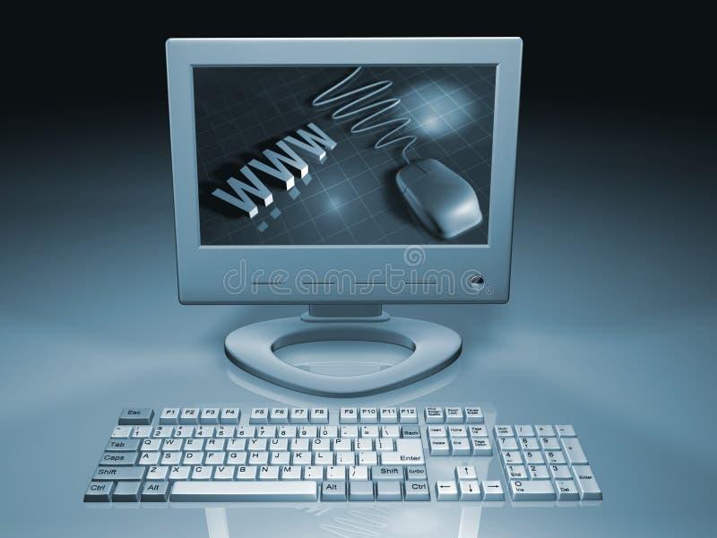Web-Computer lizenzfreie abbildung