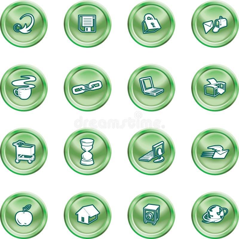 Web and Computing icons. vector illustration