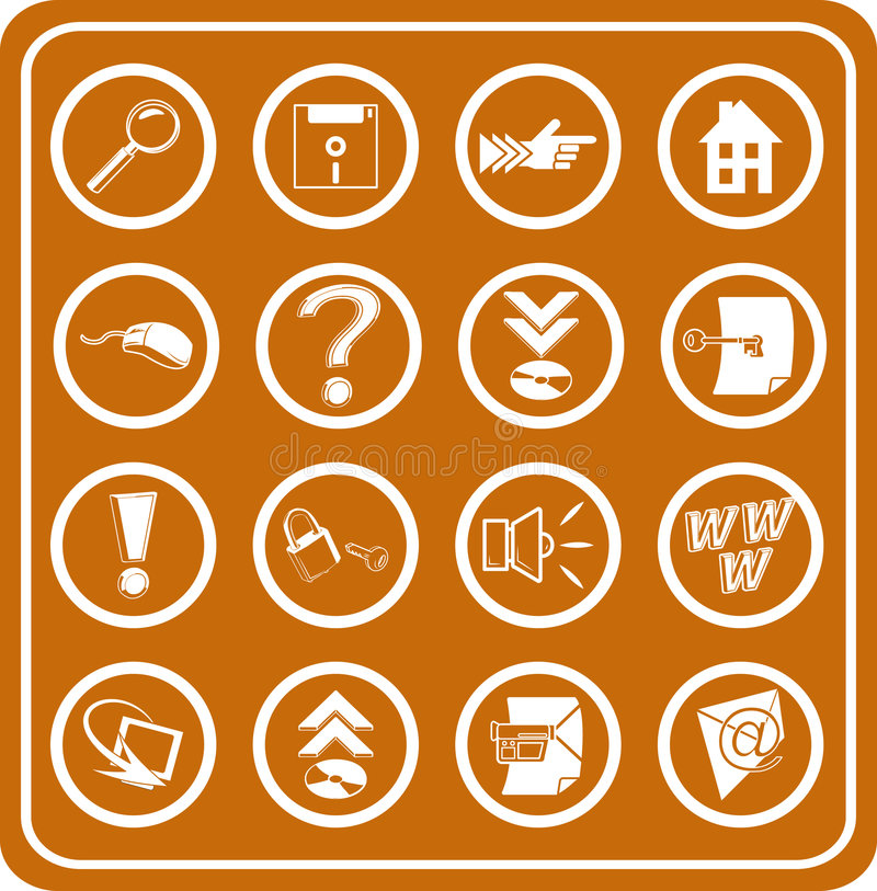 Web and Computing icons stock illustration