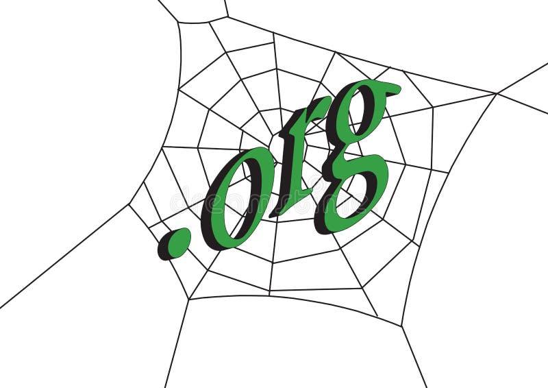 Web con .org illustrazione di stock