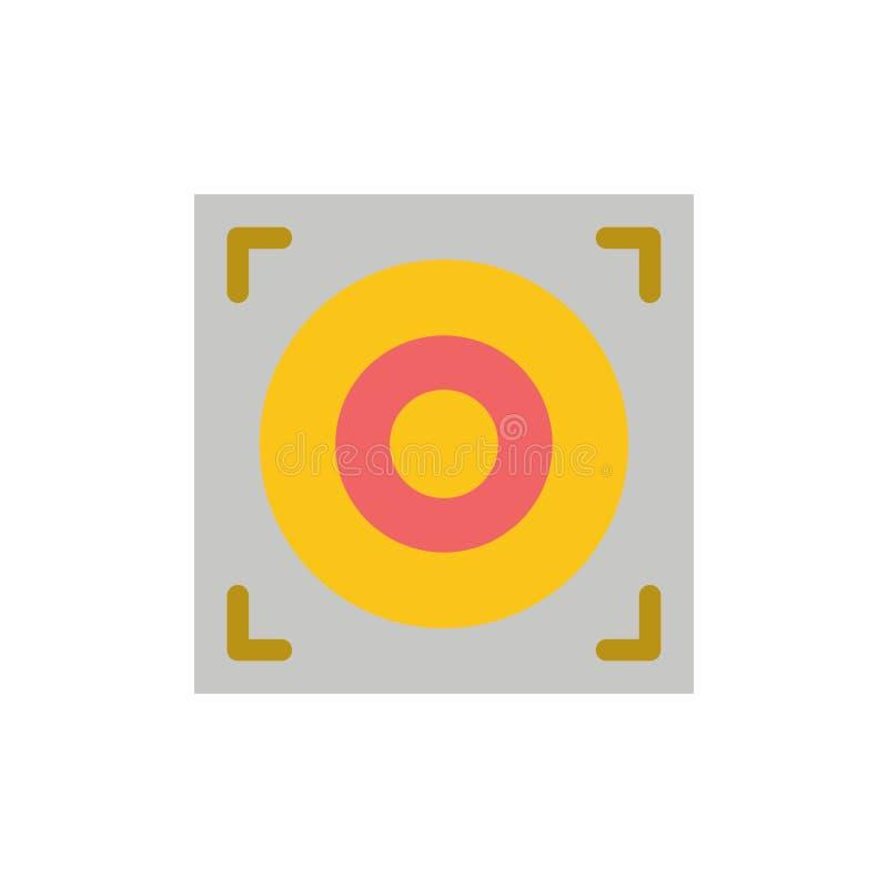 Web, conception, icône plate de couleur de haut-parleur Calibre de bannière d'icône de vecteur illustration libre de droits
