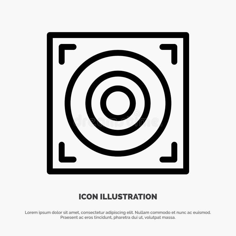 Web, conception, ligne vecteur de haut-parleur d'icône illustration libre de droits