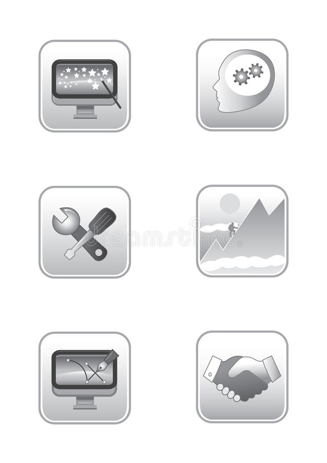 Download Web concepts icon set stock vector. Illustration of illustration - 14606773