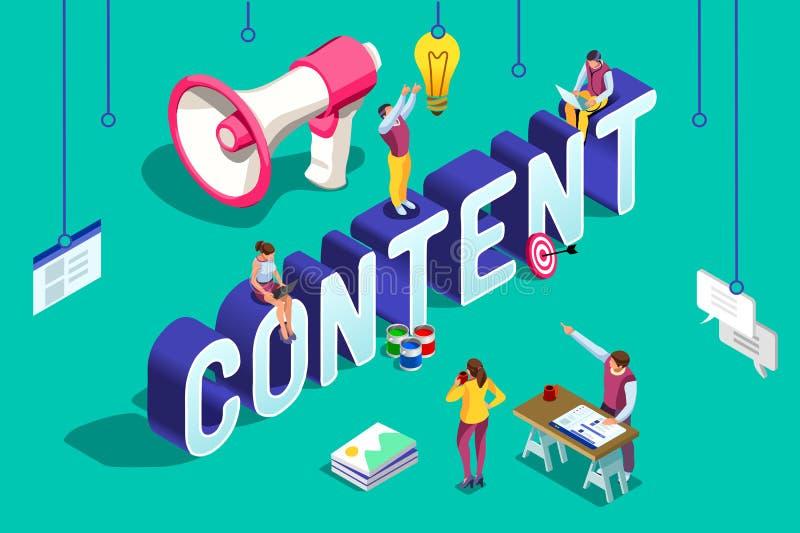 Web conceptuel Seo Agency de projet de travail d'équipe illustration libre de droits