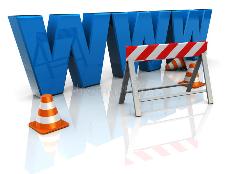 Web construction royalty free illustration