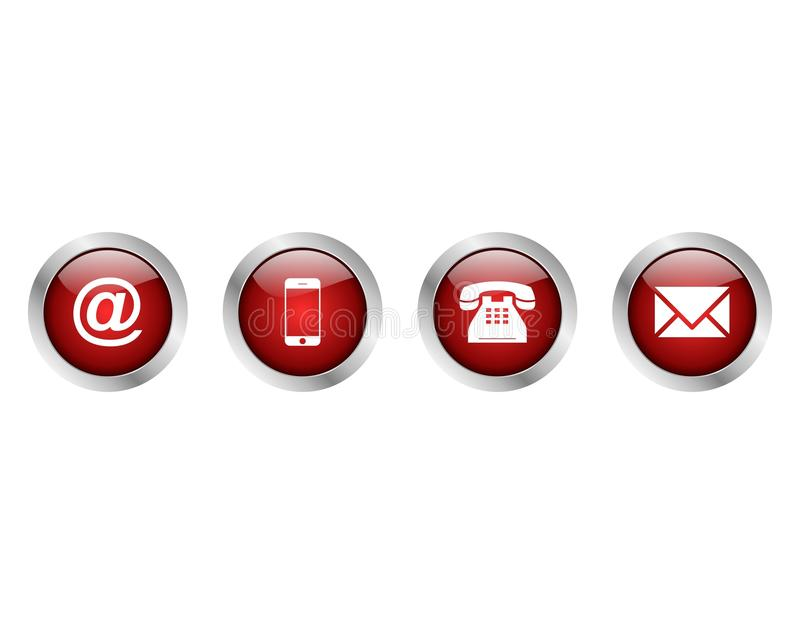 Contact Us Red >> Web Contact Us Buttons Red Color Stock Image