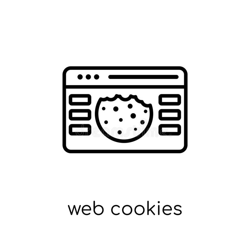 web Cookies icon. Trendy modern flat linear vector web Cookies i stock illustration