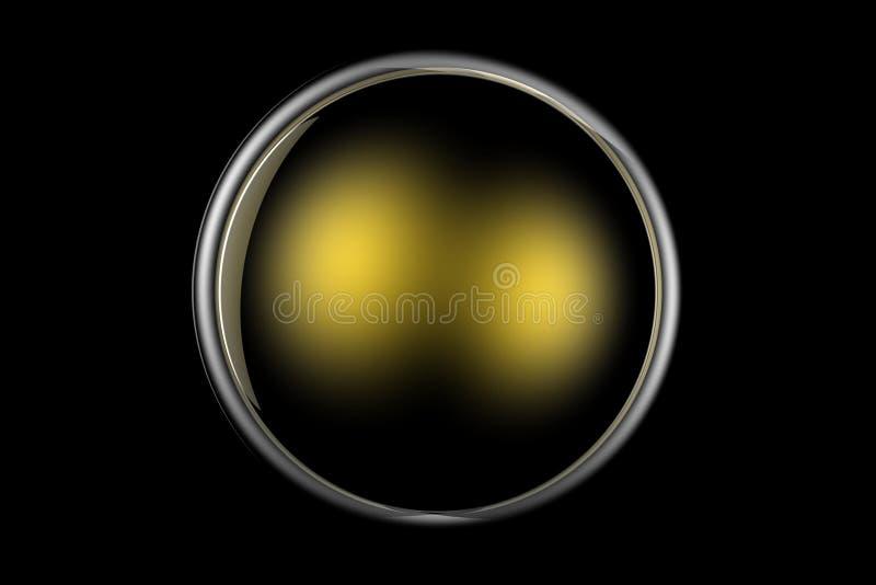 Web d'or de bouton illustration libre de droits