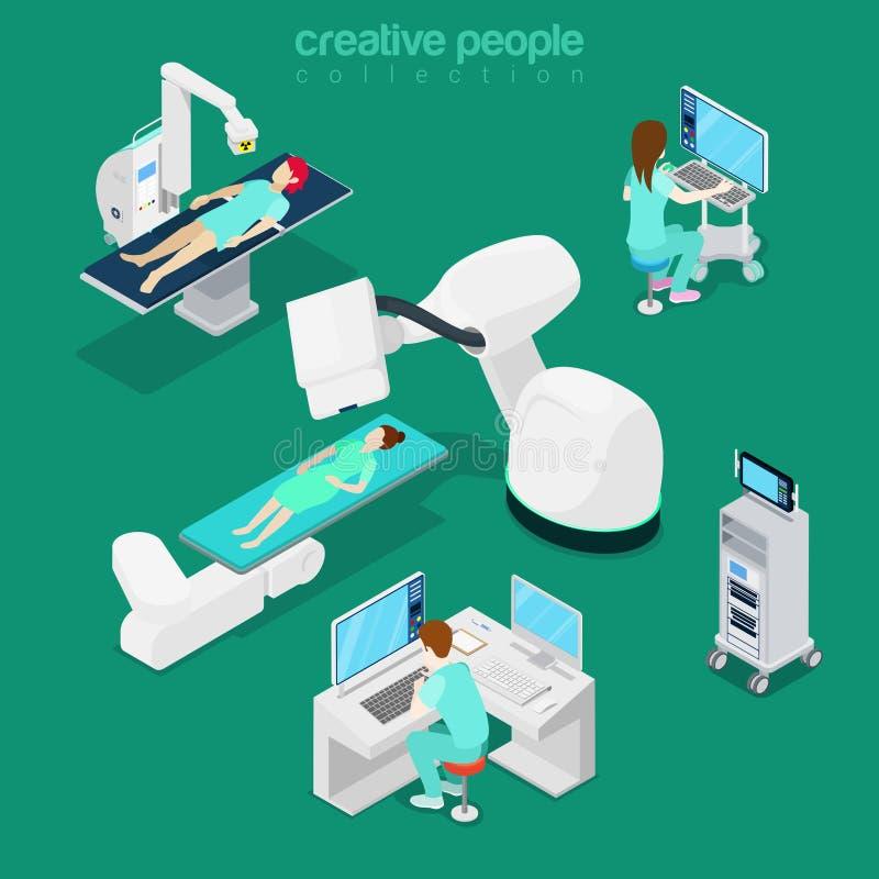 Web 3d s plat diagnostique d'ordinateur médical d'hôpital illustration stock