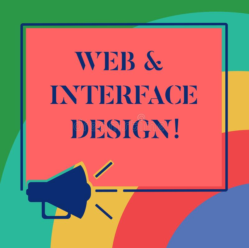 Web da exibição da escrita da mão e projeto de relação conceptuais Tornar-se em linha apresentando dos locais dos desenhistas do  ilustração stock