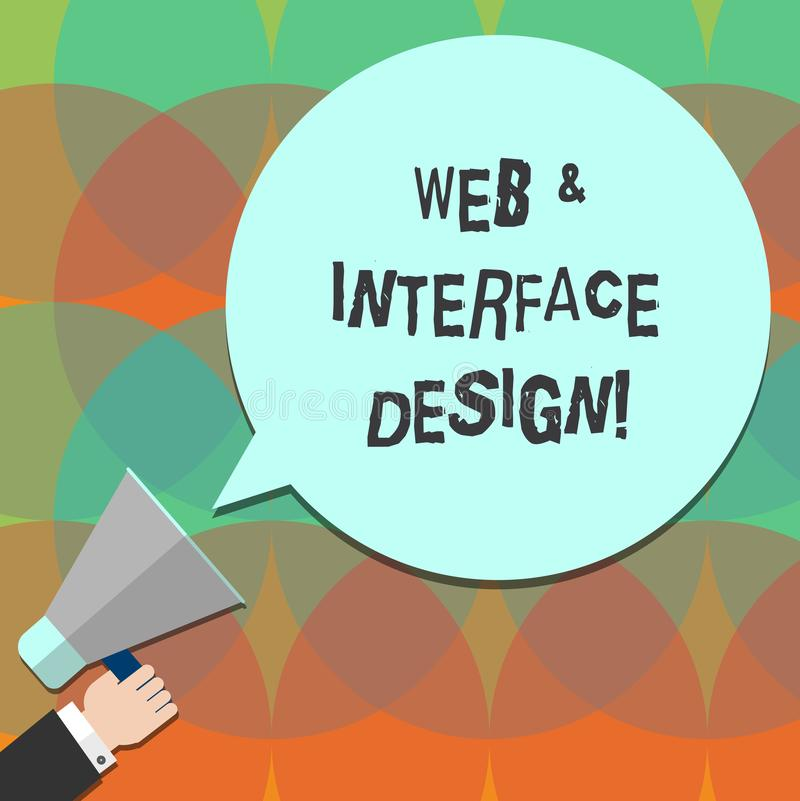 Web da exibição da escrita da mão e projeto de relação conceptuais Tornar-se em linha dos locais dos desenhistas do Web site do t ilustração royalty free