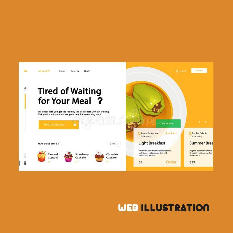 Web de alimento saudável ilustração stock