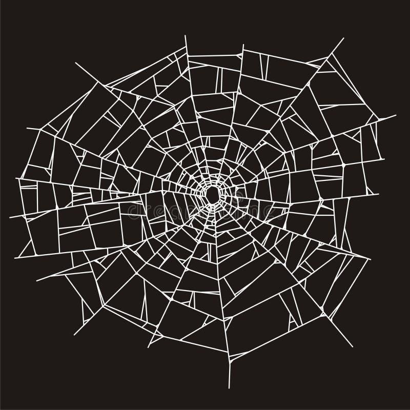 Web de araña o vidrio quebrado ilustración del vector