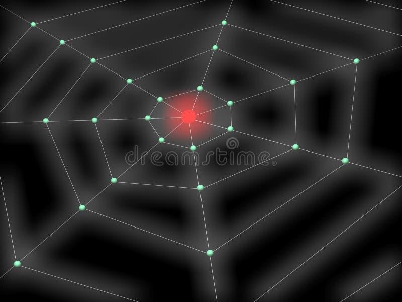 WEB DE ARANHA ilustração royalty free