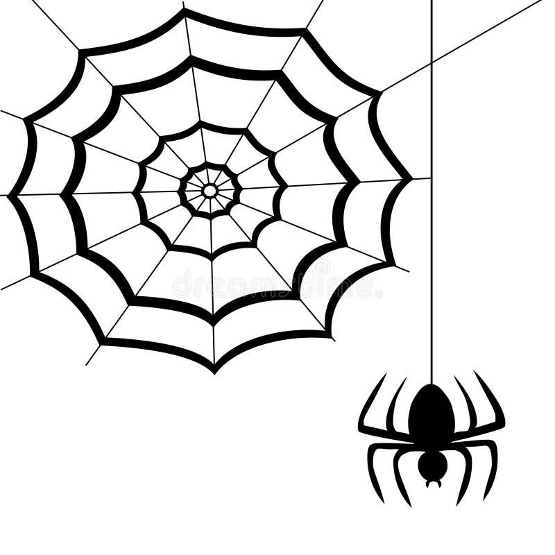 Web de aranha ilustração stock