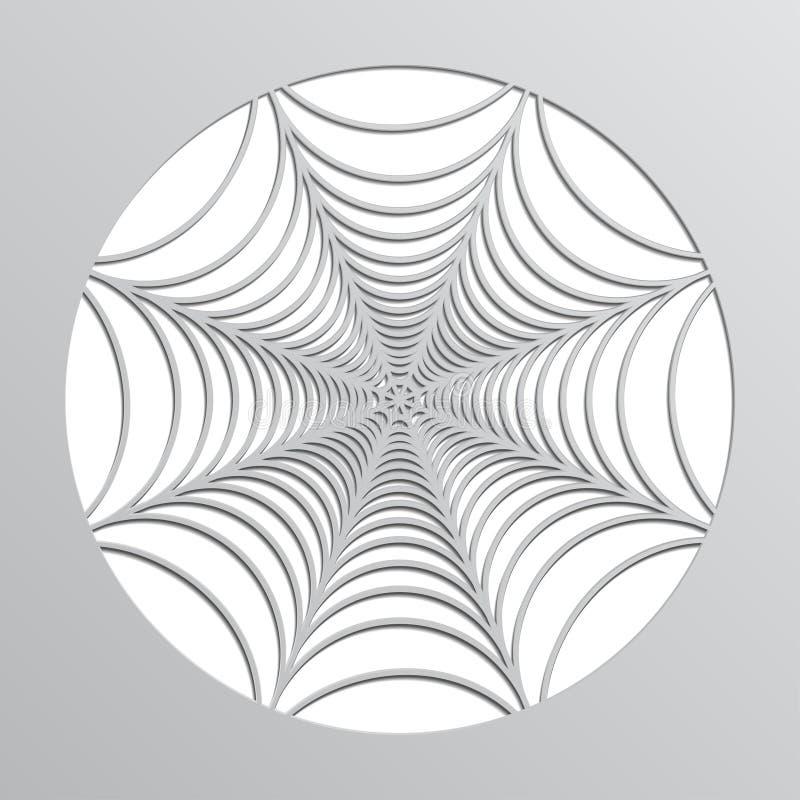 Web de aranha de papel origami Decoração a Halloween Vetor ilustração royalty free