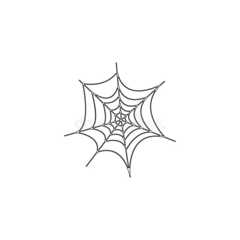 Web de aranha de Dia das Bruxas ?cone liso do vetor ilustração do vetor