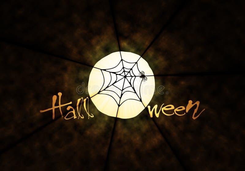 Web de aranha no tema de Halloween ilustração stock
